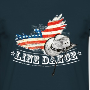 linedance - Mannen T-shirt