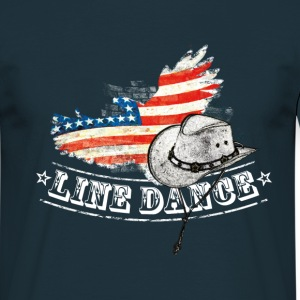 linedance - T-shirt herr