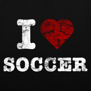 i_love_soccer_vintage_hell Bags  - Tote Bag