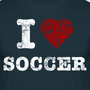 i_love_soccer_vintage_hell T-shirts - Mannen T-shirt