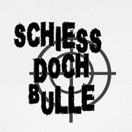 Motiv ~ Weiß/weiß schiessdochbulle Caps & Mützen