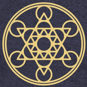 Metatrons Cube, Star Tetrahedron,  Flower of Life/ Sweat-shirts - Pull Femme col bateau de Bella