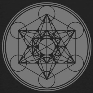 Metatrons Cube - Vector - Flower of Life / T-shirts - Ekologisk T-shirt herr