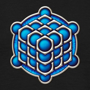 3D Cube - crop circle - Metatrons Cube - Hexagon / T-Shirts - Men's T-Shirt