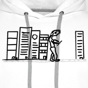 giant on the wall - Männer Premium Hoodie
