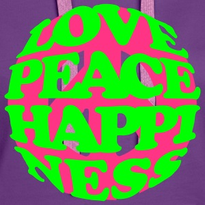 love_peace_happiness Hoodies & Sweatshirts - Women's Premium Hoodie