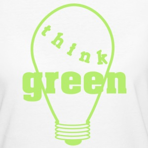 Think Green! bianco e nero Magliette - T-shirt ecologica da donna