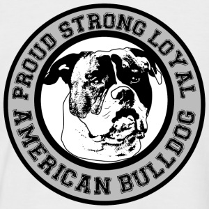 American Bulldog - Proud, Loyal, Strong T-Shirts - Männer Baseball-T-Shirt
