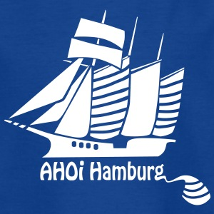 Segelsport - Ahoi Hamburg - Kinder T-Shirt