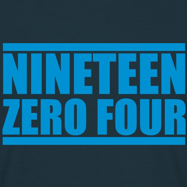 "Shirt ""Nineteen Zero Four"""
