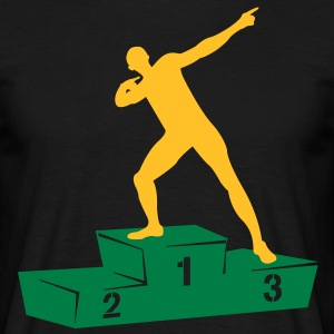 Usain Bolt podium  T-shirts - Mannen T-shirt