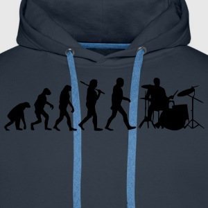 evolution of drums Hoodies & Sweatshirts - Men's Premium Hoodie