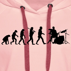 evolution of drums Sweat-shirts - Sweat-shirt à capuche Premium pour femmes