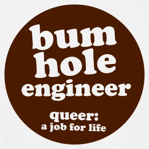 White bum hole engineer Men's Tees - Men's T-Shirt
