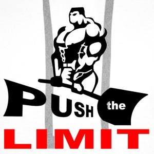 PUSH the LIMITgif.gif Sweat-shirts - Sweat-shirt à capuche Premium pour hommes