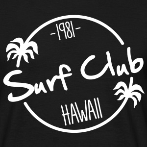 surf club hawaii surfing T-shirts - Mannen T-shirt
