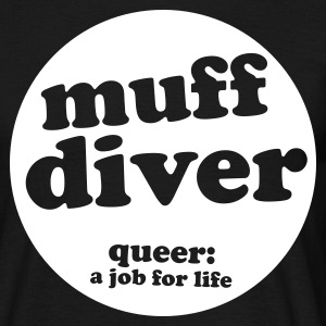 Black muff diver Men's Tees - Men's T-Shirt
