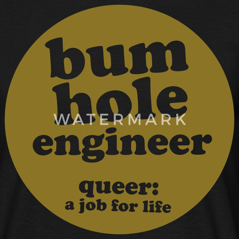 Black bum hole engineer Men's Tees - Men's T-Shirt