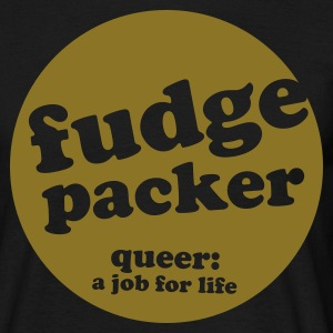 Black fudge packer Men's Tees - Men's T-Shirt