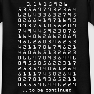 Schwarz pi - 3,14159265 - nerd - mathematik Kinder T-Shirts - Teenager T-Shirt