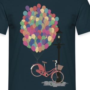 Sand beige Love to Ride my Bike with Balloons T-Shirts T-Shirts - Men's T-Shirt
