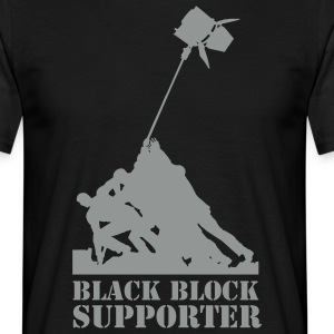 Black Block supporter T-Shirts - Männer T-Shirt