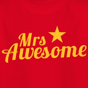 MRS AWESOME with a star Shirts - Kids' T-Shirt