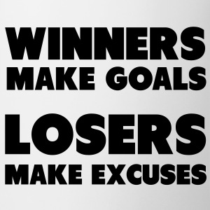 Winners Make Goals, Losers Make Excuses Bottles & Mugs - Mug
