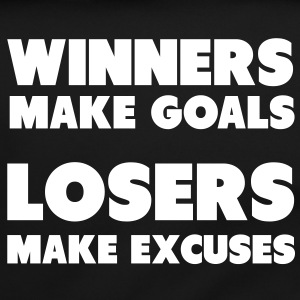 Winners Make Goals, Losers Make Excuses Bags  - Shoulder Bag