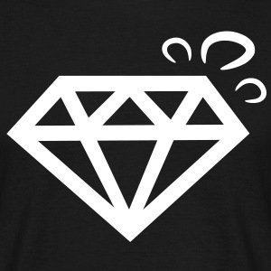 diamant diamond bling T-shirts - Mannen T-shirt