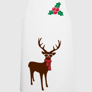 A reindeer with scarf and glasses  Aprons - Cooking Apron