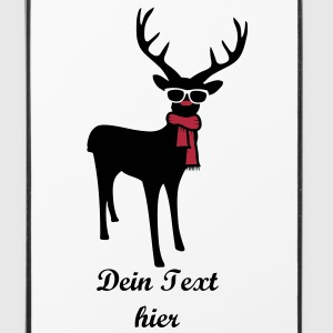 A reindeer with scarf and glasses Other - iPhone 4/4s Hard Case