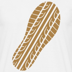 Shoeprint Tread  T-shirts - Herre-T-shirt