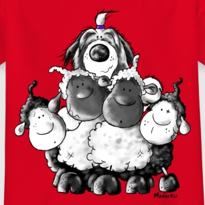 Bearded Collie and sheep - Herding dog design Shirts - Kids' T-Shirt