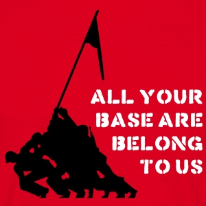 all your base are belong to us T-shirts - Mannen T-shirt
