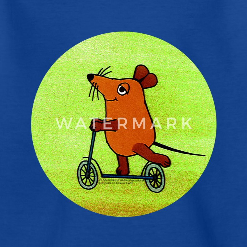 Kinder-T-Shirt 'Maus mit Roller' RETRO - Kinder T-Shirt