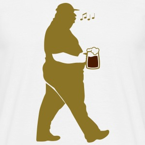 Fat Man Beer (2c)++2012 T-Shirts - Men's T-Shirt