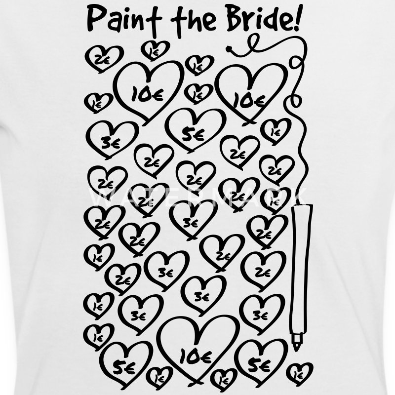 Paint the Bride - JGA T-Shirts - Frauen Kontrast-T-Shirt