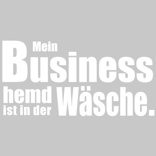 Businesshemd Helle Schrift