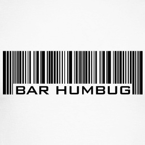 Bar Humbug - Anti-Christmas Logo - Men's Long Sleeve Baseball T-Shirt
