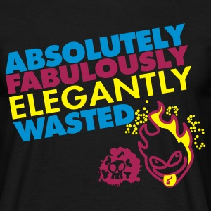 Zwart absolutely_fabulously_wasted T-shirts - Mannen T-shirt