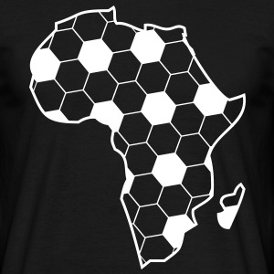 Africa as a continent of black football  T-Shirts - Men's T-Shirt