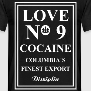 Love No9 Cocaine Columbia´s Finest Export T-shirts - Mannen T-shirt