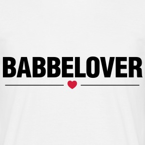 Babbelover - Svart text - T-shirt herr