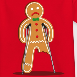 gingerbread man hurt (red) Shirts - Teenage T-shirt