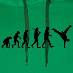 evolution of breakdance Sweat-shirts - Sweat-shirt à capuche Premium pour hommes