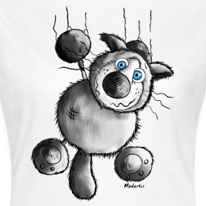 Crazy Cat Cartoon-  Kat - Siameser T-shirts - Dame-T-shirt