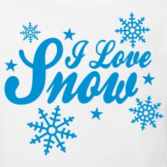I love snow with snowflakes ii Shirts