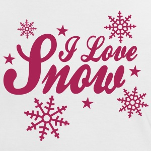 I love snow with snowflakes ii T-shirts - Kontrast-T-shirt dam