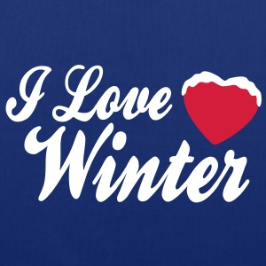 I love winter with heart 2c Bags  - Tote Bag
